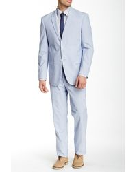 U.S. POLO ASSN. - Blue And White Pincord Two Button Notch Lapel Modern Fit Suit - Lyst
