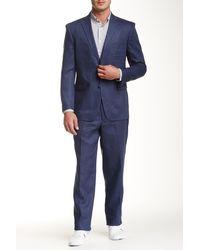 U.S. POLO ASSN. - Blue Two Button Notch Lapel Modern Fit Linen Suit - Lyst