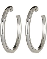 Simon Sebbag - Sterling Silver Thick Hoop Earrings - Lyst