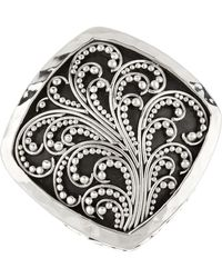 Lois Hill - Sterling Silver Filigree Cutout Cocktail Ring - Size 9 - Lyst