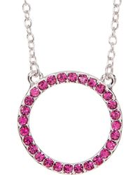 Ariella Collection - Circle Necklace - Lyst