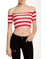 American Apparel | Off Shoulder Cropped Tee | Lyst