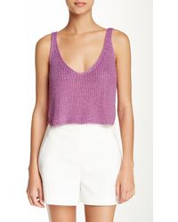 American Apparel | Sparkle Cropped Tank | Lyst