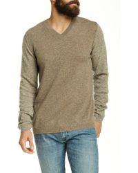 Autumn Cashmere - Coloblock V-neck Cashmere Sweater - Lyst