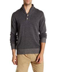 Agave - Harrison Long Sleeve Shawl Collar Fine Pullover - Lyst