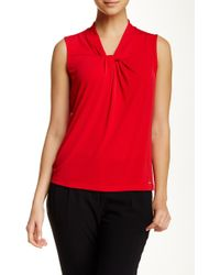 CALVIN KLEIN 205W39NYC - Matte Jersey Knot Front Cami - Lyst