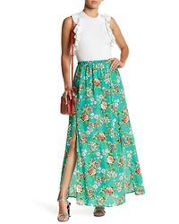 Peach Love California - Slit Maxi Skirt - Lyst