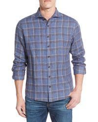Singer + Sargent - Plaid Brushed Linen Sport Shirt - Lyst