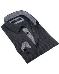 Coogi - Long Sleeve Tailor Fit Pin Dot Dress Shirt - Lyst