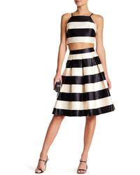 Ark & Co. - Pleated Striped Skirt - Lyst