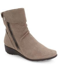 Mephisto - 'seddy' Leather Bootie (online Only) (women) - Lyst
