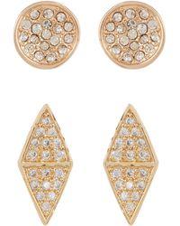 Melinda Maria - Hunter Pave Cz Stud Earrings Set - Lyst