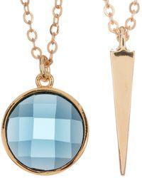 Melinda Maria - Spike Pendant & Blue Topaz Necklace Set - Lyst