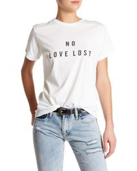 Sincerely Jules - No Love Lost Tee - Lyst