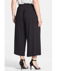 Sejour - Knit Palazzo Trousers (plus Size) - Lyst