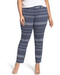 Sejour - Stretch Cotton Ankle Trousers (plus Size) - Lyst