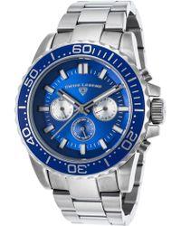 Swiss Legend - Men's Silver-tone Quartz Watch - Lyst