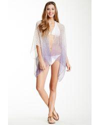 Subtle Luxury - Printed Silk Kimono - Lyst