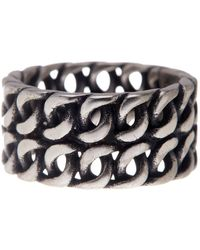 Steve Madden - Double Row Chain Ring - Lyst