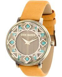 Steve Madden - Women's Analog Leather Strap Watch - Lyst