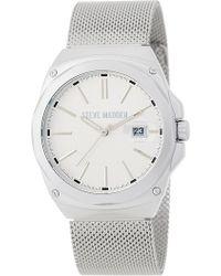 Steve Madden - Women's Stainless Steel Mesh Bracelet Watch - Lyst
