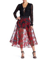 Ark & Co. - Velvet Rose Midi Skirt - Lyst