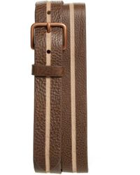 Caputo & Co. - Skived Leather Belt - Lyst