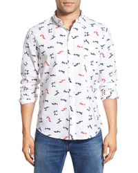 Oxford Lads - 'origami Birds' Trim Fit Print Woven Shirt - Lyst