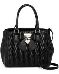 Luisa Vannini - Bow Locket Woven Leather Satchel - Lyst