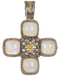 Konstantino - Sterling Silver & 18k Gold Square Cut 4 Stone Labradorite Cross Pendant - Lyst