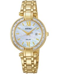 Seiko - Women's Solar Diamond Accent Watch - 0.10 Ctw - Lyst