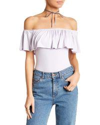 Honey Punch   Off-the-shoulder Bodysuit   Lyst