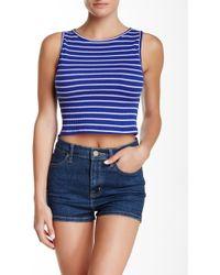 Mimi Chica - Stripe Knit Crop Tank - Lyst