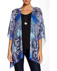 Sienna Rose - Sheer Printed Kimono - Lyst