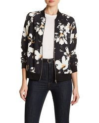 West Kei - Floral Print Bomber Jacket - Lyst