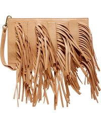 Cynthia Vincent - Dagon Leather Fringe Wristlet - Lyst