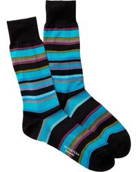 Bugatchi - Multi Colored Striped Sock - Lyst