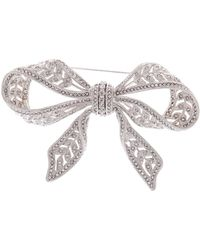 Nadri - Pave Crystal Bow Pin - Lyst