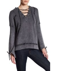 ANAMÁ - Lace Up Self-tie Hoodie - Lyst