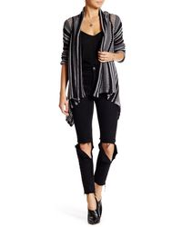 Gypsy 05 - Striped Draped Cardigan - Lyst