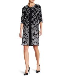 Grayse - Plaid Floral Elbow Sleeve Coat - Lyst