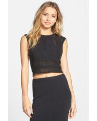 RVCA - 'number One' Cable Knit Sleeveless Jumper - Lyst