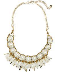 Nakamol - Beaded Fringe Collar Necklace - Lyst