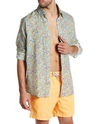 Michael's Swimwear - Long Sleeve Graphic Print Linen Shirt - Lyst