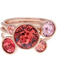 Ted Baker - Jackie Crystal Stacked Rings - Set Of 3 - Lyst