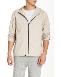 Michael Stars - Tech Zip Hooded Jacket - Lyst