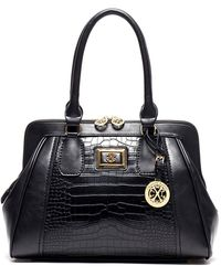 CXL by Christian Lacroix - Peyton Reptile Embossed Satchel - Lyst