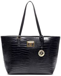 CXL by Christian Lacroix - Simone Reptile Embossed Tote - Lyst