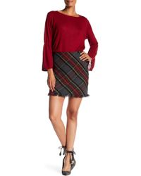 Forever 21 Tartan Plaid Pleated Mini Skirt in Yellow | Lyst
