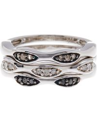 Savvy Cie Jewels - Sterling Silver Stacked Diamond Ring Set - 0.25 Ctw - Size 7 - Lyst